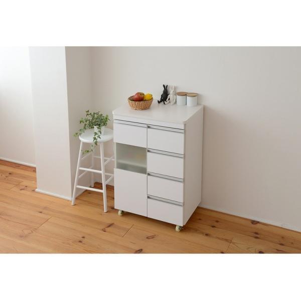 キッチン収納 鏡面カウンターワゴン 扉収納 60cm幅 Parl|furniture-direct|02