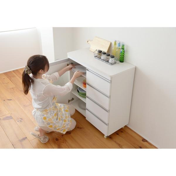 Parl 鏡面カウンターワゴン 扉収納 80cm幅 furniture-direct 05