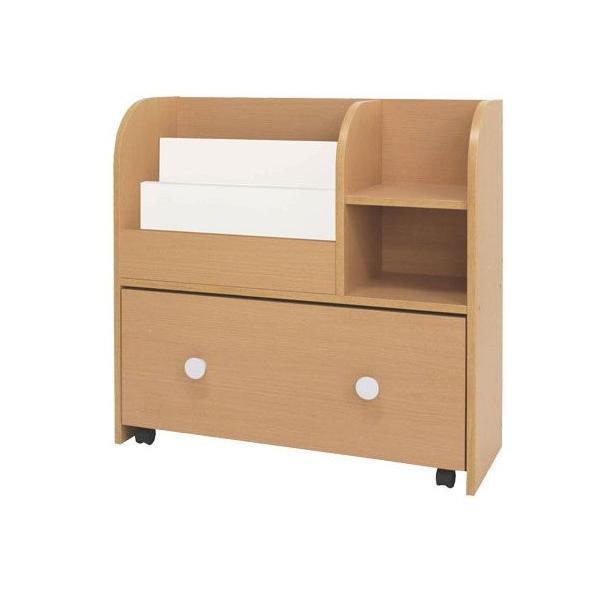 ネイキッズ kdr-2140na キッズ おもちゃ箱 付き 絵本ラック かわいい|furniture-direct|02