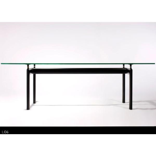 LC6 ガラス テーブル 送料無料 2250mm  ダイニングテーブル ル・コルビュジエ デザイン
