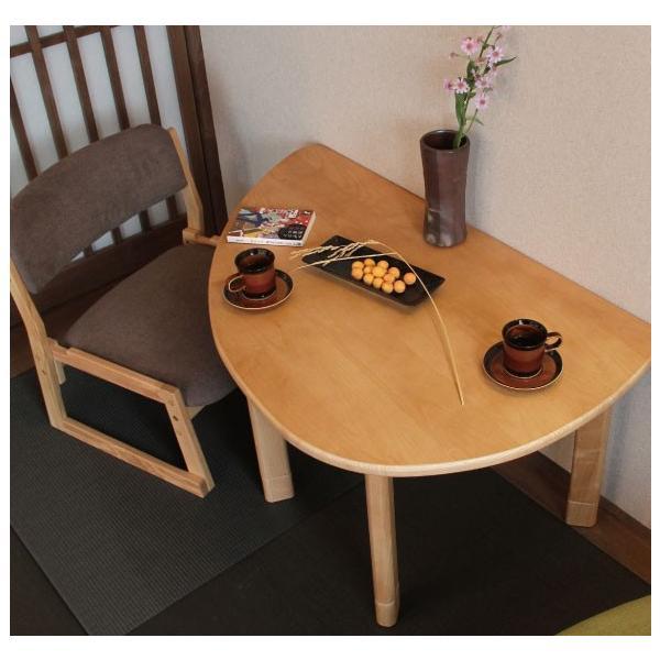 ロットン 半円テーブル Loton  table ローテーブル かわいい形 天然木 木 |furniture-direct|03
