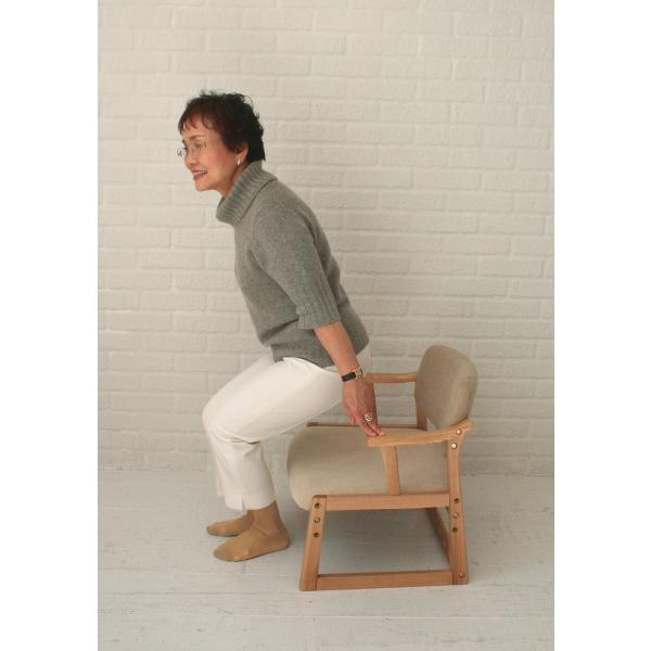 ロットン チェア Loton Arm Chair 座椅子 チェア イス 椅子 肘おき 敬老 プレゼント 天然木 木 |furniture-direct|04