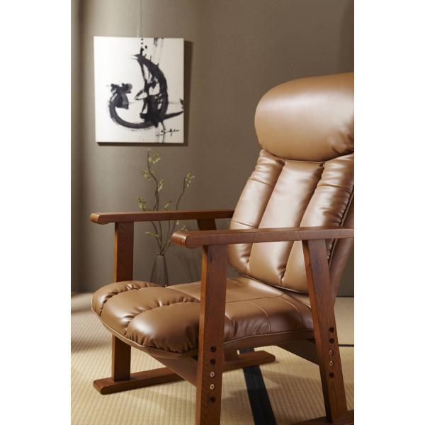 高座椅子 凛 レザータイプ YS-1900HR 日本製 人気の椅子|furniture-direct