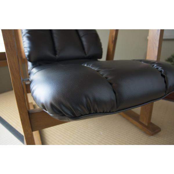 高座椅子 凛 レザータイプ YS-1900HR 日本製 人気の椅子|furniture-direct|12