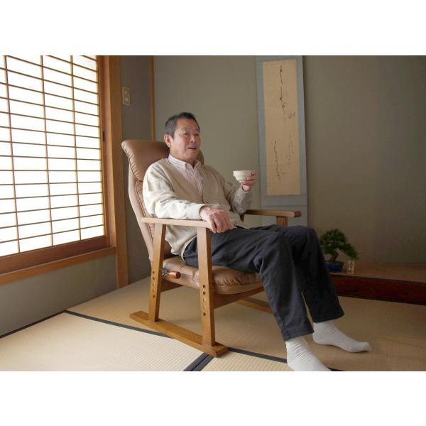 高座椅子 凛 レザータイプ YS-1900HR 日本製 人気の椅子|furniture-direct|13