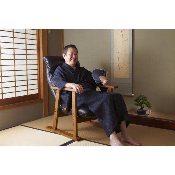 高座椅子 凛 レザータイプ YS-1900HR 日本製 人気の椅子|furniture-direct|14