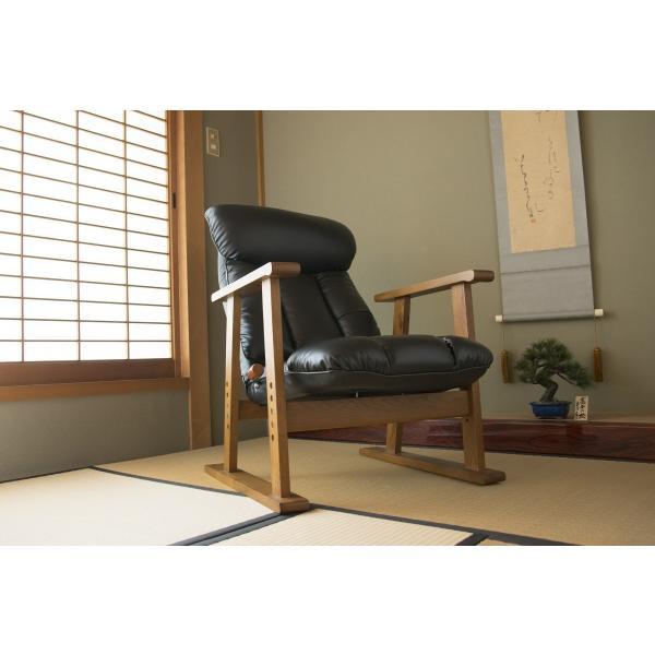 高座椅子 凛 レザータイプ YS-1900HR 日本製 人気の椅子|furniture-direct|16