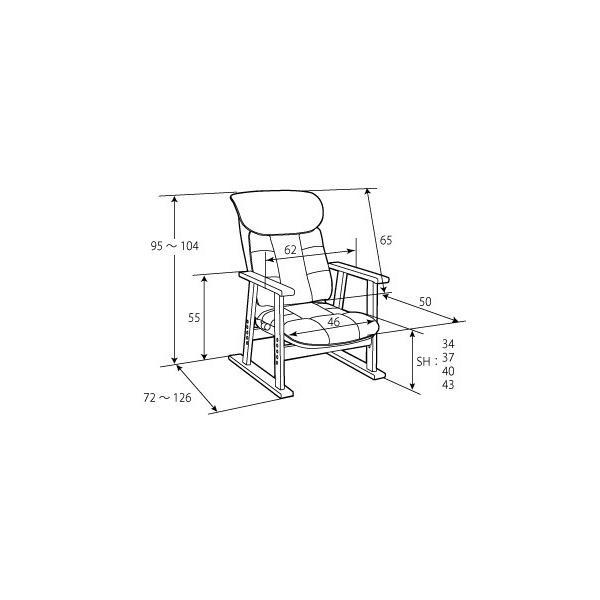 高座椅子 凛 レザータイプ YS-1900HR 日本製 人気の椅子|furniture-direct|20