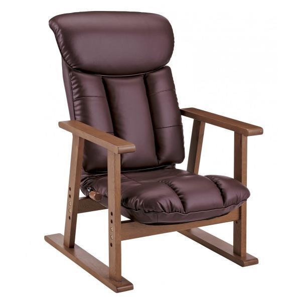 高座椅子 凛 レザータイプ YS-1900HR 日本製 人気の椅子|furniture-direct|04