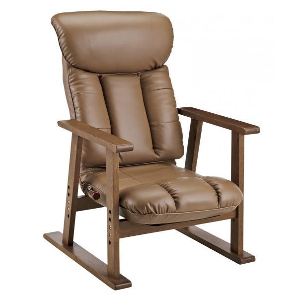高座椅子 凛 レザータイプ YS-1900HR 日本製 人気の椅子|furniture-direct|05