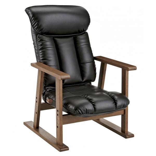 高座椅子 凛 レザータイプ YS-1900HR 日本製 人気の椅子|furniture-direct|06