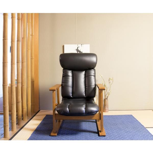 高座椅子 凛 レザータイプ YS-1900HR 日本製 人気の椅子|furniture-direct|07