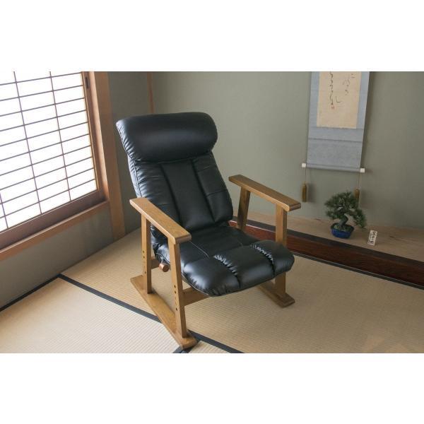 高座椅子 凛 レザータイプ YS-1900HR 日本製 人気の椅子|furniture-direct|08