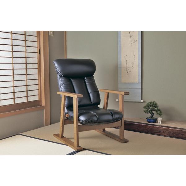高座椅子 凛 レザータイプ YS-1900HR 日本製 人気の椅子|furniture-direct|09