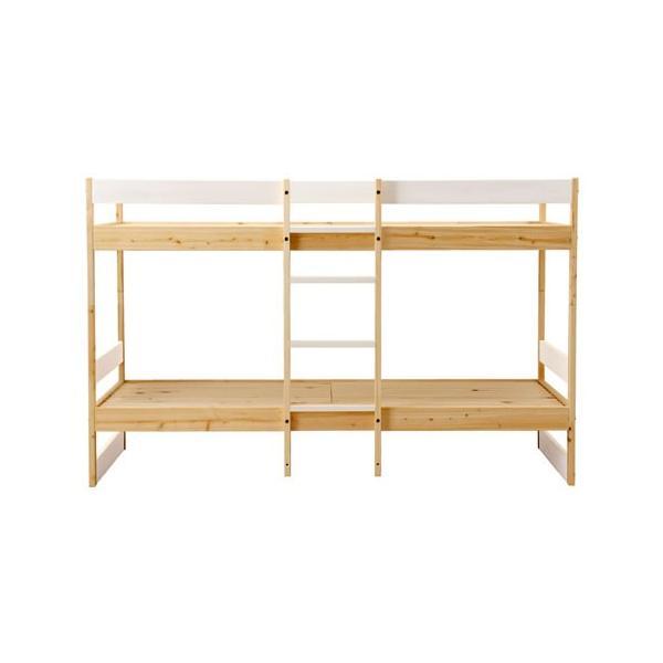 二段ベッド ひのきのすのこ ナチュラル+白 ひのき無垢材 国産 furniture-direct