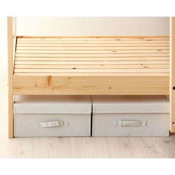 二段ベッド ひのきのすのこ ナチュラル+白 ひのき無垢材 国産 furniture-direct 02
