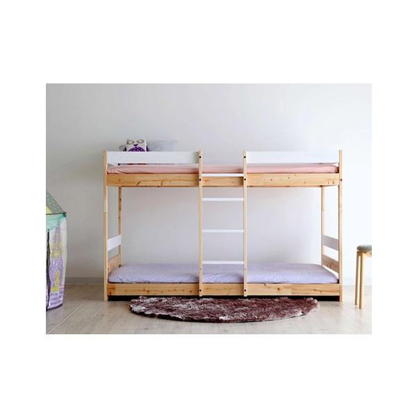 二段ベッド ひのきのすのこ ナチュラル+白 ひのき無垢材 国産 furniture-direct 08
