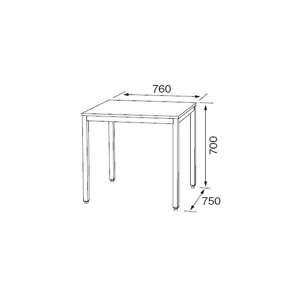 ダイニングテーブル ダイニング テーブル リビング 食卓 おしゃれ ホワイト 75×75×70cm RD-T1590|furniture-direct|04