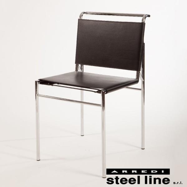 ダイニングチェア アイリーングレイ  イタリア製 スチールライン ロケブリューン|furniture-direct