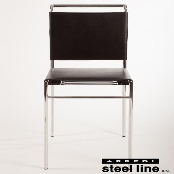 ダイニングチェア アイリーングレイ  イタリア製 スチールライン ロケブリューン|furniture-direct|02