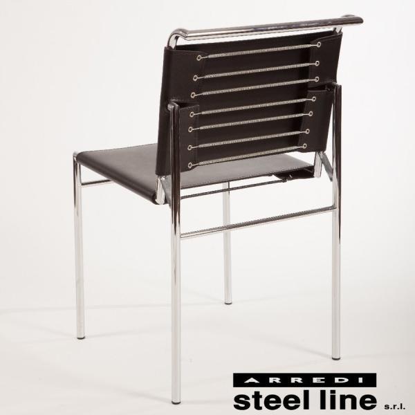 ダイニングチェア アイリーングレイ  イタリア製 スチールライン ロケブリューン|furniture-direct|04