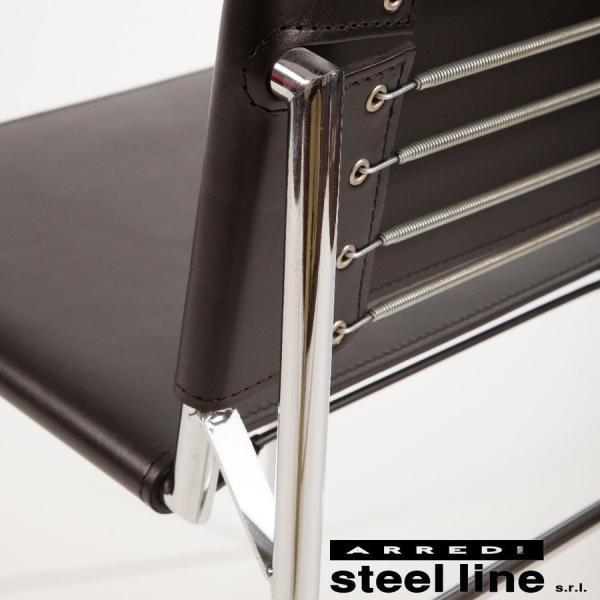ダイニングチェア アイリーングレイ  イタリア製 スチールライン ロケブリューン|furniture-direct|05