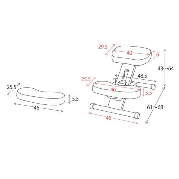 カラフル かわいい 姿勢すっきり プロポーションチェア クッション付きプロポーションチェアkids|furniture-direct|05