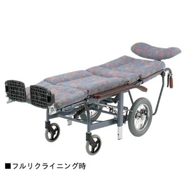 スチールフルリクライニング式介助車いす / NHR-11 抗菌・防臭シート採用 1台|furnitures|02