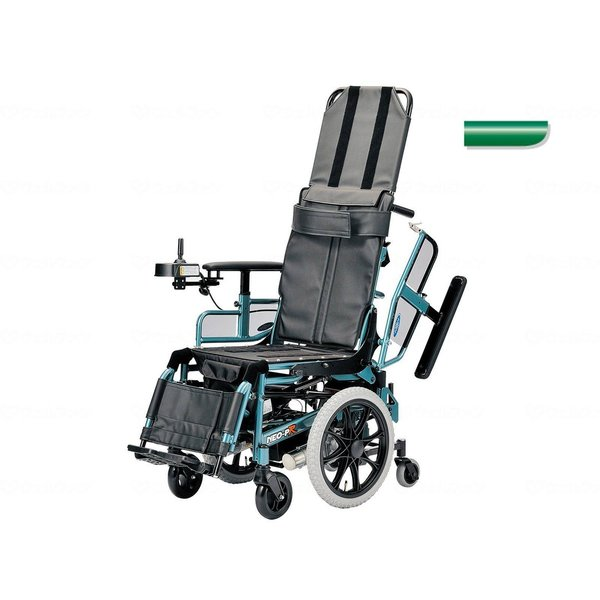 電動リクライニング車いす NEO-PRリクラ ブルーグリーン 4.5km仕様・座幅40cm|furnitures