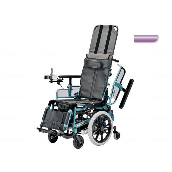 電動リクライニング車いす NEO-PRリクラ プリティパープル 4.5km仕様・座幅40cm|furnitures
