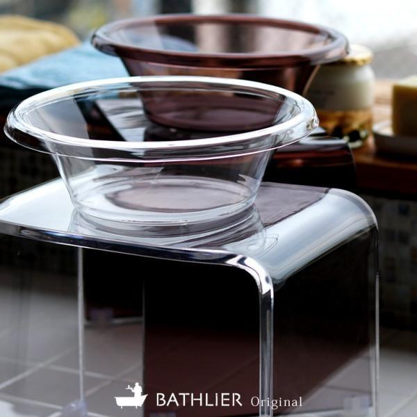 バスチェア 洗面器 セット Clair クレール 風呂 椅子 バスチェアー アクリル 浴室 お風呂 椅子 透明 おしゃれ 防かび 防カビ 清潔 抗菌 クリア 軽量