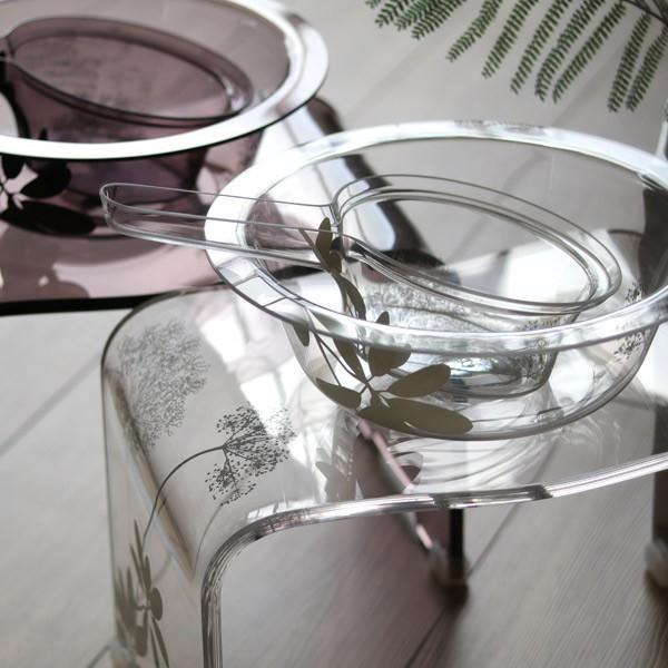【送料無料】アクリルバスグッズ3点セット「SARINA(サリナ)」(M)【アクリル バスチェア 洗面器 手桶 風呂椅子 おしゃれ 白 クリア ブラウン バスチェアー】