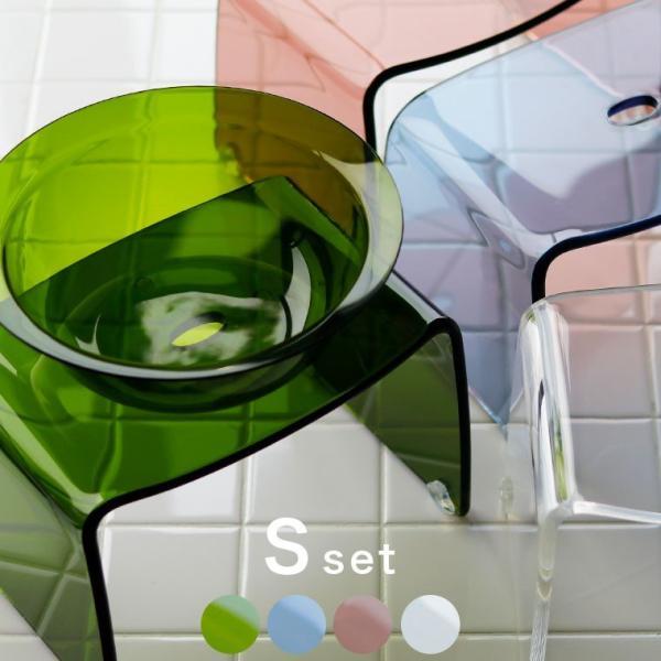 【送料無料】バスチェア アクリル Sサイズ セット バスチェア&洗面器 favor(フェイヴァ)2点セット【バスチェア アクリル 風呂イス 洗面器おしゃれ】