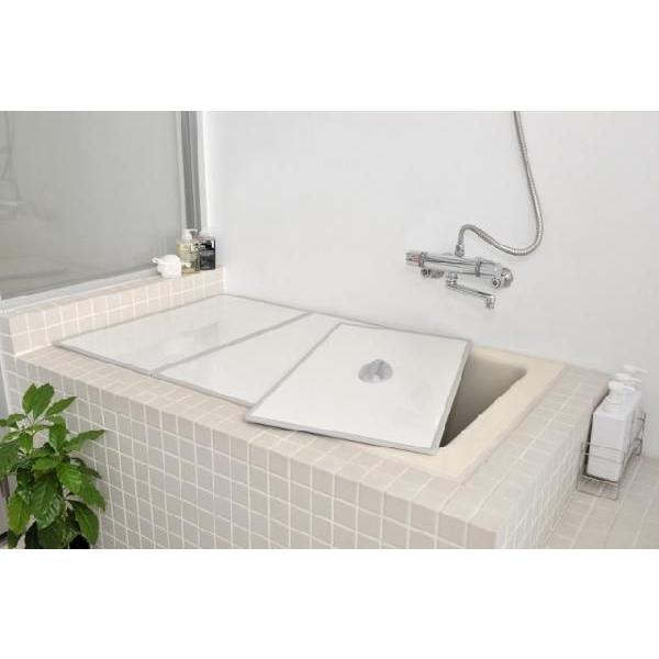 風呂ふた 東プレ 送料無料 Ag取手付きアルミ組み合わせ風呂ふた L16 73×158cm 3枚割 両面ホワイト