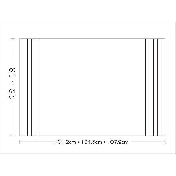 風呂ふた 東プレ オーダーAgイージーウェーブ60〜64cm×101.2・104.6・107.9cm用