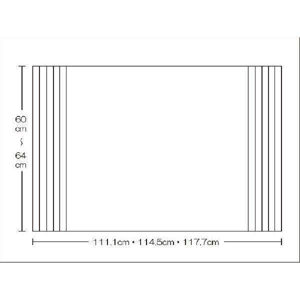 風呂ふた 東プレ オーダーAgイージーウェーブ60〜64cm×111.1・114.5・117.7cm用