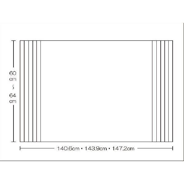 風呂ふた 東プレ オーダーAgイージーウェーブ60〜64cm×140.6・143.9・147.2cm用