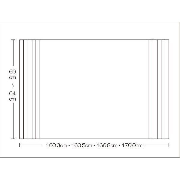 風呂ふた 東プレ オーダーAgイージーウェーブ60〜64cm×160.3・163.5・166.8・170.0cm用