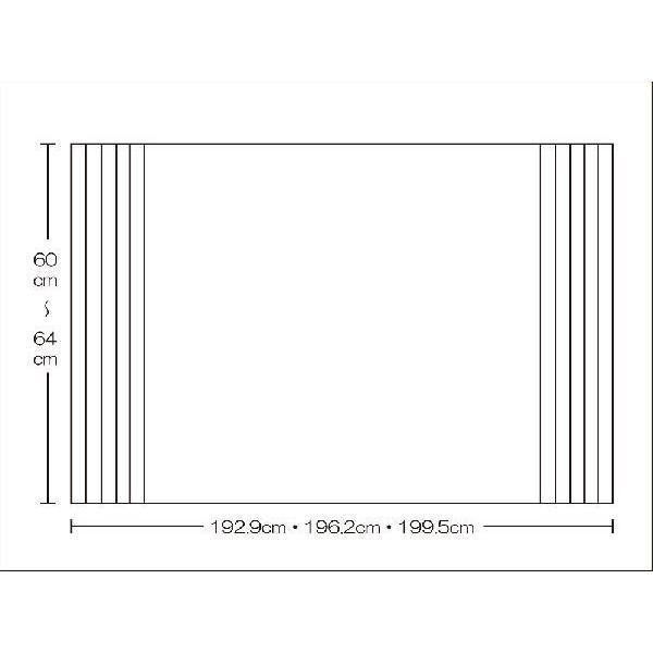 風呂ふた 東プレ オーダーAgイージーウェーブ60〜64cm×192.9・196.2・199.5cm用