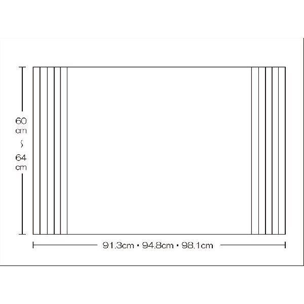 風呂ふた 東プレ オーダーAgイージーウェーブ60〜64cm×91.3・94.8・98.1cm用