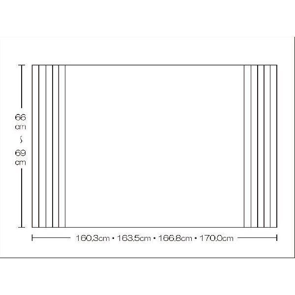 風呂ふた 東プレ オーダーAgイージーウェーブ66〜69cm×160.3・163.5・166.8・170.0cm用