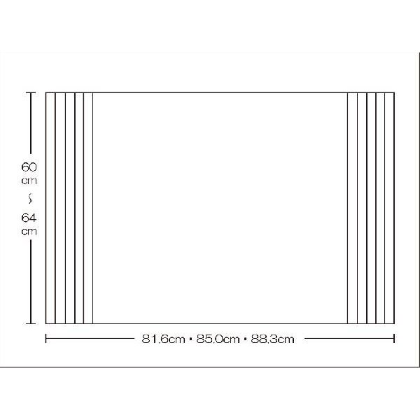 風呂ふた  東プレ 送料無料  オーダー風呂ふた イージーウェーブ60〜64cm×81.6・85.0・88.3cm用