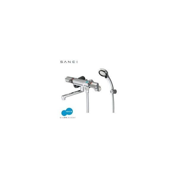 三栄水栓SANEIサーモシャワー混合栓(レイニー付)SK18121CTC-13交換省エネシャワーヘッド