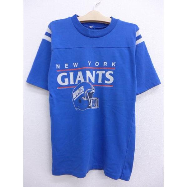 古着 キッズ 子供服 ビンテージ フットボール Tシャツ NFL ニューヨークジャイアンツ 青 ブルー アメフト スーパーボウル 19jun27