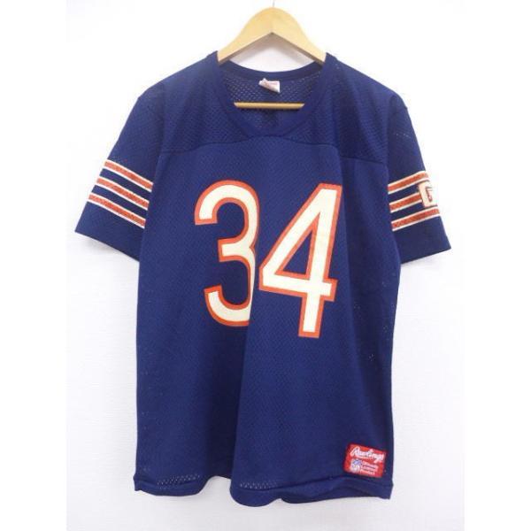 XL/古着 ビンテージ フットボール Tシャツ NFL ローリングス 紺 ユニフォーム アメフト スーパーボウル 19jul10 中古 メンズ