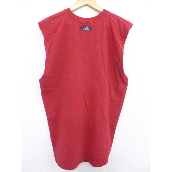 XL/古着 ノースリーブ ビンテージ Tシャツ アディダス adidas バスケットボール 赤 レッド 19jul08 中古 メンズ|furugiyarushout|02