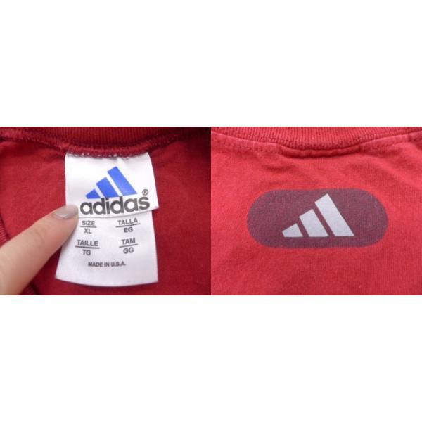 XL/古着 ノースリーブ ビンテージ Tシャツ アディダス adidas バスケットボール 赤 レッド 19jul08 中古 メンズ|furugiyarushout|03