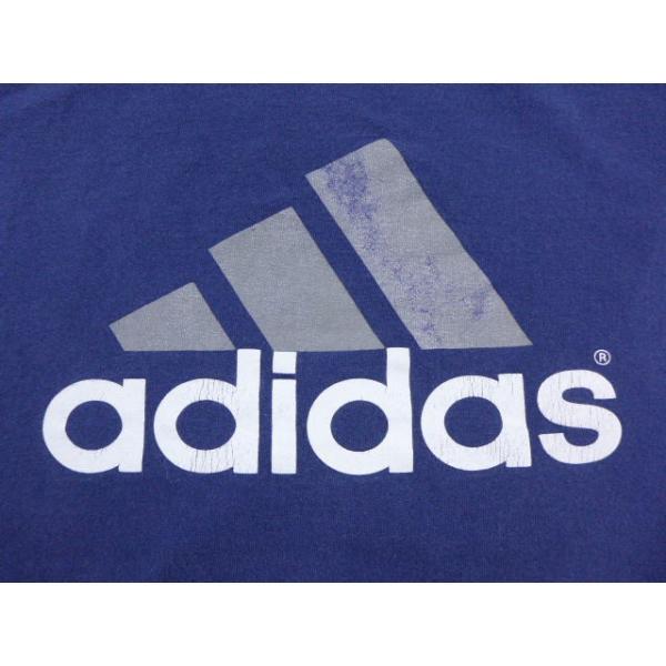 XL/古着 ノースリーブ ビンテージ Tシャツ アディダス adidas ロゴ 大きいサイズ 紺 19jul26 中古 メンズ|furugiyarushout|03