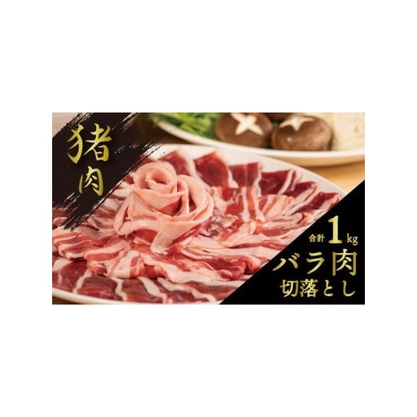 ふるさと納税UJB010 猪ジビエ 猪肉バラ切落し詰合せ1kg高知県須崎市