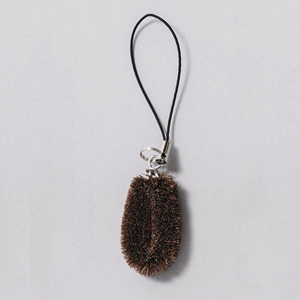 たわしストラップ(茶一色)